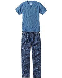 Tom Tailor Schlafanzug Gr. 56 - Blau