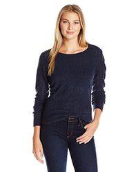 Dockers Herringbone Weave Sweater - Blue