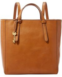 Fossil Camilla Backpack Bag Rust Brown