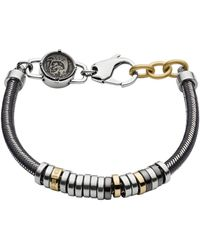 DIESEL Bracciali di corda Uomo acciaio_inossidabile - DX1185040 - Grigio
