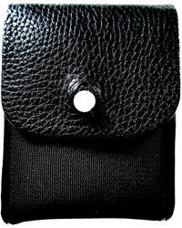 "PUMA Neil Barrett 96 Hours X Black Label Leather""connect It"" Wallet Black"
