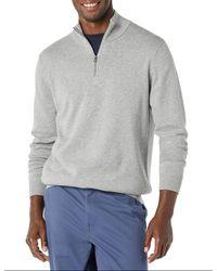 Amazon Essentials 100% Cotton Quarter-zip Jumper - Grey