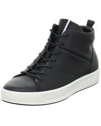 Ecco Soft 8 High-top Fashion Trainer - Black