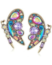 Betsey Johnson - S Colorful Blooming Butterfly Stud Earrings - Lyst