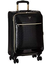 "Guess Rancho 20"" 8-wheeler Carry-on Luggage, Black, 14.25"" X 7.5"" X 20"""