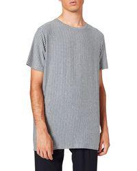 FIND T-Shirt à Rayures Verticales - Bleu