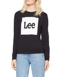 Lee Jeans - Boxed Logo Sweat Felpa - Lyst