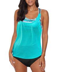 HIKARO Tankini Swimsuits For Two Piece Tankini Set With Bikini Bottom Bathing Suit Racerback Tank Tops Swimwear Blue Uk Size 18 20
