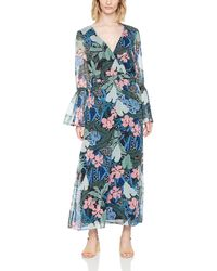 Tommy Hilfiger Wrap Maxi 3/4 Sleeve Dress - Blue