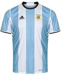 adidas Argentina Home Football Shirt 2015-2017 - Blue