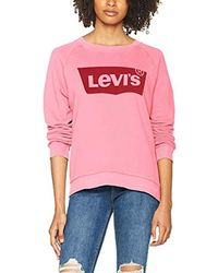 Levi's Relaxed Graphic Crew Felpa Donna - Rosa