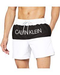Calvin Klein Medium Drawstring Bañador - Blanco