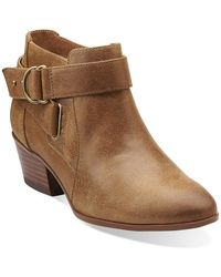 Clarks - Indigo Spye Belle s Dressy Ankle Boots Brown 10 - Lyst