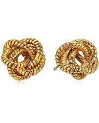 Diane von Furstenberg - Gold Knotted Snake Chain Stud Earrings - Lyst