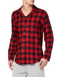 Calvin Klein L/S Button Down Ropa Interior técnica para Hombre - Rojo