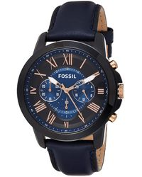 Fossil Grant Fs5061ie S Chronograph - Blue