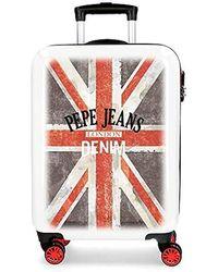 Pepe Jeans World Suitcase 68 Centimeters 70 Multicolour (multicolor) - Red