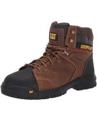 Caterpillar Wellspring Waterproof Mg Steel Toe Industrial Boot Real Brown 8 W Us