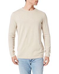 Springfield Jersey básico algodón Coderas Suéter - Neutro