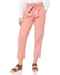 FIND Pantalon à Nouer à la Taille - Rose