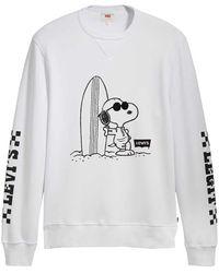 Levi's ® Graphic Crew B Peanuts Sweater White - Bianco