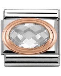 Nomination Charm Stainless Steel With White 430601/010