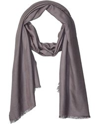The Drop Jessie Fringed Super-soft Rectangle Scarf - Grey