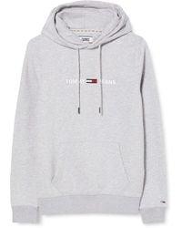 Tommy Hilfiger TJM Straight Logo Hoodie Pullover - Grün