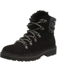 Dorothy Perkins Monnie Fur Tongue Hiker Ankle Boots - Black