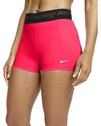 Nike W NP PRO CLN Short 3In Culotte - Rosso