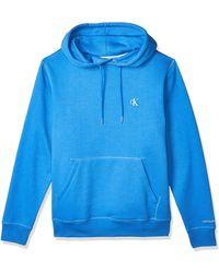 Calvin Klein CK Essential Hoodie Maglione - Blu