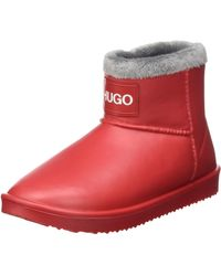 HUGO Alpha Bootie-c Fashion Boot - Red