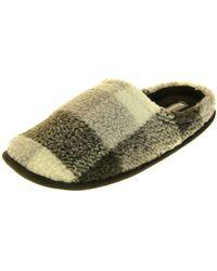 Dunlop Warme L�ssige Winterhausschuhe Pantoffeln Grau EU 40-41 - Grün
