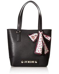 Love Moschino Borsa Natural Grain Pu - Nero