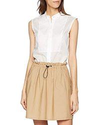 Filippa K Tuxedo Sleeveless Shirt Blouse - White
