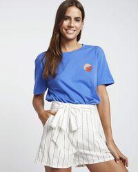 Billabong Striped Shorts - - S - Blue