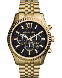 Michael Kors Chronograph Quarz Uhr mit Edelstahl Armband MK8281 - Mettallic
