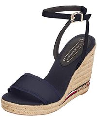 ab549e3dc13 Tommy Hilfiger Wedge With Printed Stripes Midnight Women s Sandals ...