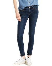 Levi's ® 711 Skinny W Jean City Blue Dark Indigo - Bleu