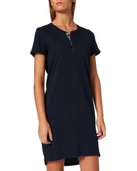 Esprit Everyday Cotton Nw Coo Nightshirt S-slv Nightgown - Blue