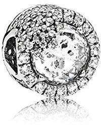 PANDORA 796358cz, Brilliant Snowflake Charm - Metallic