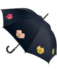 Lulu Guinness Kensington 2 Parapluie Canne, 88 cm, 1 liters - Noir