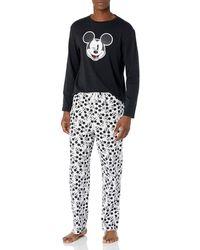 Amazon Essentials Disney Star Wars Marvel Flannel Pajamas Sleep Sets Pajama - Nero