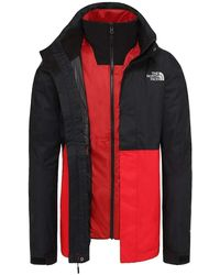 The North Face - M Kabru Triclimate Jacket Rot-Schwarz - Lyst