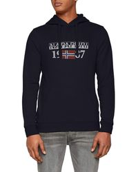 Napapijri , Berthow Logo, Sweat-Shirt , Bleu (Blu Marine 176), L