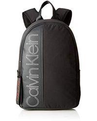 Calvin Klein - Herren Double Logo Round Backpack Rucksack, Schwarz (Black), 20x45x33 cm - Lyst