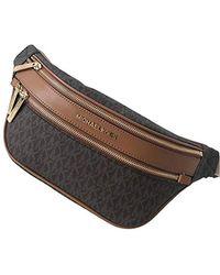 Michael Kors Kenly Medium Logo Belt Bag Waist Pack Crossbody Bumbag Brown Logo