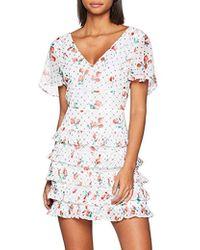 Guess Larissa Dress Robe Femme - Blanc