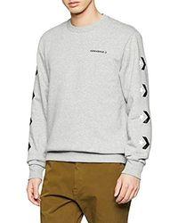 Converse Star Chevron Graphic Crew Sweater - Grigio