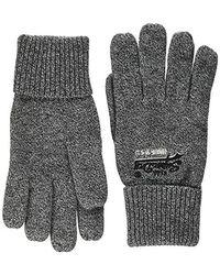 Superdry Orange Label Glove Guantes para Hombre - Gris
